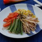 Hiyashi chuka, salade de nouilles japonaises