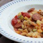 Massa au chorizo et aux légumes