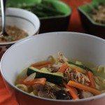 Dak kalguksu – soupe de nouilles au poulet