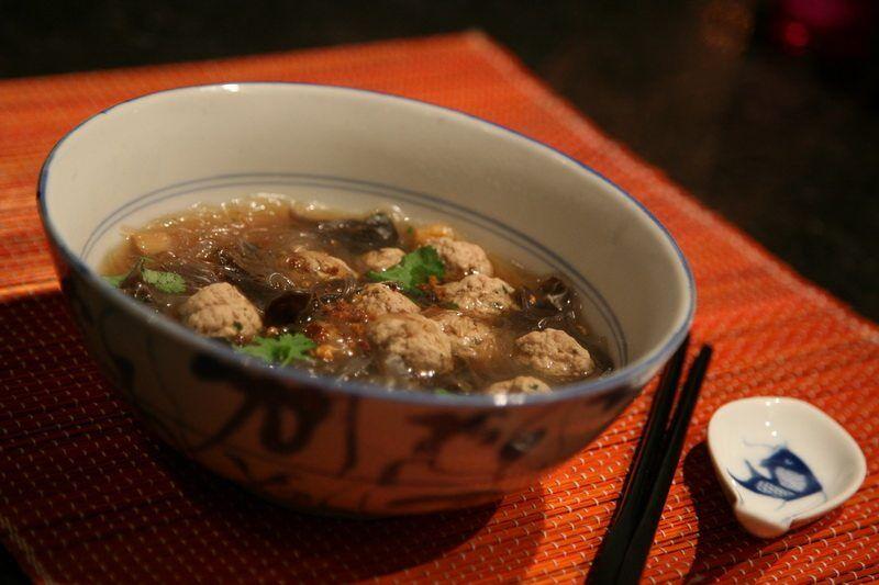 soupe de vermicelles au porc