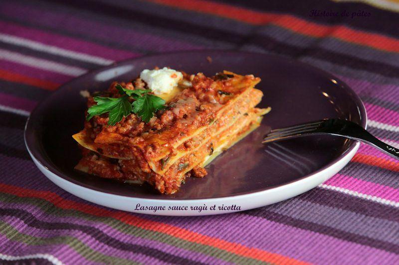 lasagne sauce ragù et ricotta