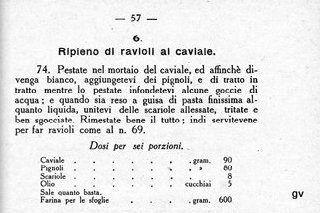 raviolis au caviar texte